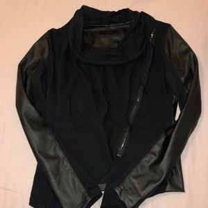 Blank NYC Leather Asymmetrical Jacket